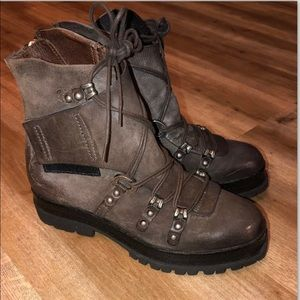 A.S.98 Free People leather Biker boots 37 7
